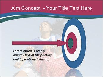 Girls heading soccer ball PowerPoint Template - Slide 83