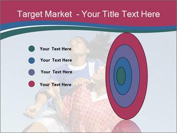 Girls heading soccer ball PowerPoint Template - Slide 84
