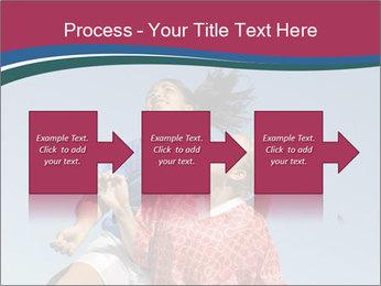 Girls heading soccer ball PowerPoint Template - Slide 88