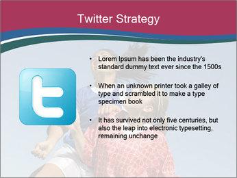 Girls heading soccer ball PowerPoint Template - Slide 9