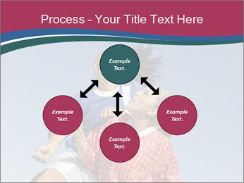 Girls heading soccer ball PowerPoint Template - Slide 91