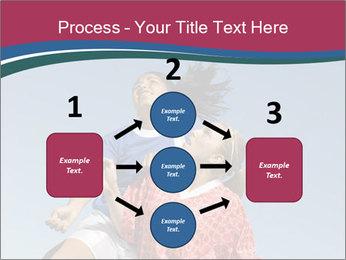 Girls heading soccer ball PowerPoint Template - Slide 92