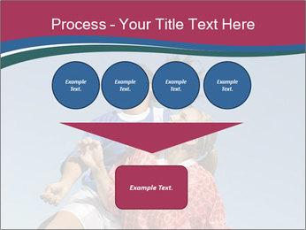 Girls heading soccer ball PowerPoint Template - Slide 93