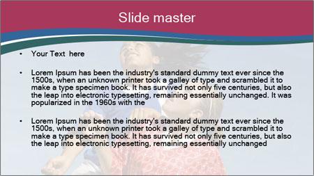 Girls heading soccer ball PowerPoint Template - Slide 2