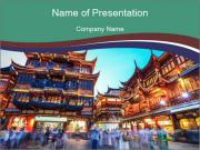 Beautiful yuyuan garden PowerPoint Templates