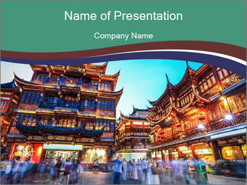 Beautiful yuyuan garden PowerPoint Templates - Slide 1