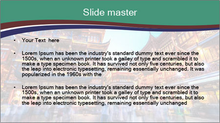 Beautiful yuyuan garden PowerPoint Template - Slide 2