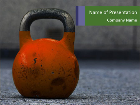 Kettle bell PowerPoint Templates