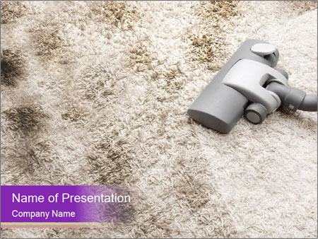 Dirty carpet PowerPoint Template