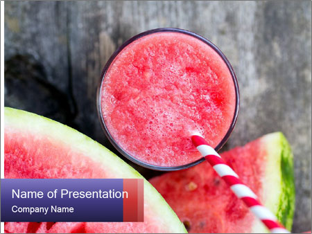 Water melon PowerPoint Templates