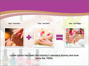 Woman in a nail salon PowerPoint Templates - Slide 22