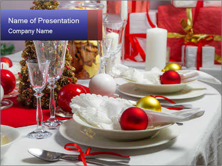Christmas dinner PowerPoint Templates