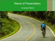 Cyclist riding a bike PowerPoint Templates