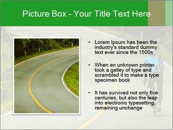 Cyclist riding a bike PowerPoint Templates - Slide 13