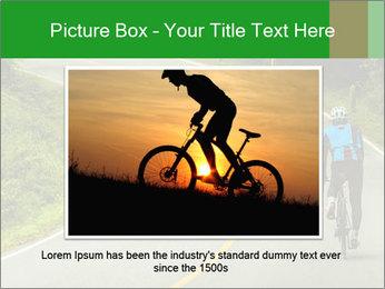 Cyclist riding a bike PowerPoint Templates - Slide 16