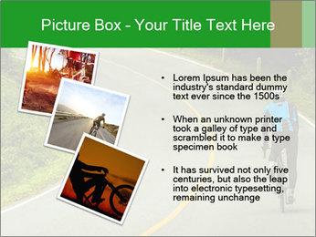 Cyclist riding a bike PowerPoint Templates - Slide 17