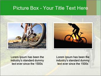 Cyclist riding a bike PowerPoint Templates - Slide 18