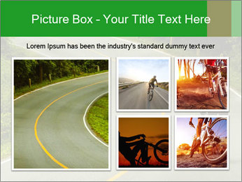 Cyclist riding a bike PowerPoint Templates - Slide 19