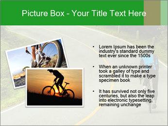 Cyclist riding a bike PowerPoint Templates - Slide 20