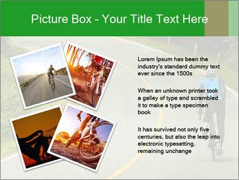 Cyclist riding a bike PowerPoint Templates - Slide 23