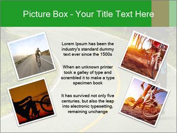 Cyclist riding a bike PowerPoint Templates - Slide 24