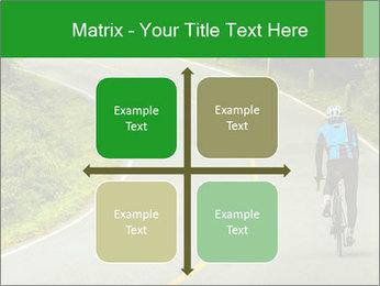 Cyclist riding a bike PowerPoint Templates - Slide 37