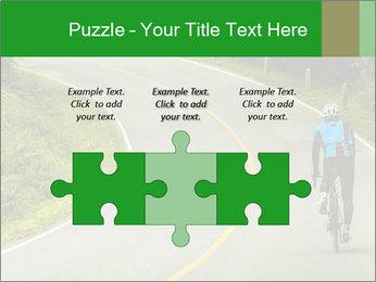 Cyclist riding a bike PowerPoint Templates - Slide 42