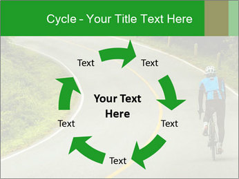 Cyclist riding a bike PowerPoint Templates - Slide 62