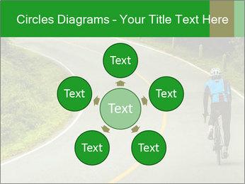 Cyclist riding a bike PowerPoint Templates - Slide 78