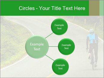 Cyclist riding a bike PowerPoint Templates - Slide 79