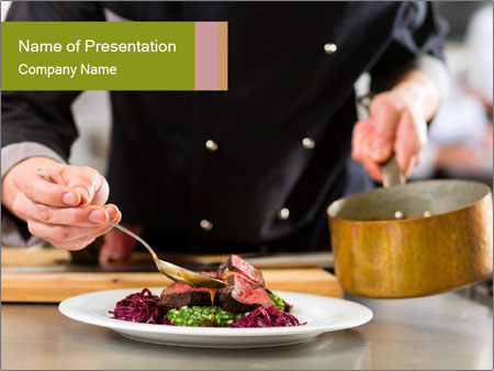 Chef in hotel PowerPoint Templates