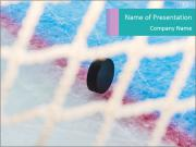 Hockey puck PowerPoint Templates