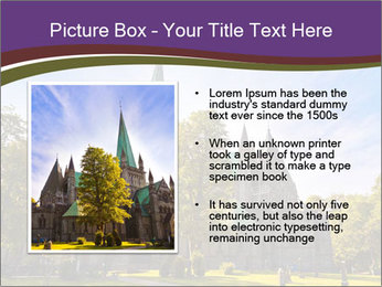 Cathedral in Trondheim Norway PowerPoint Template - Slide 13