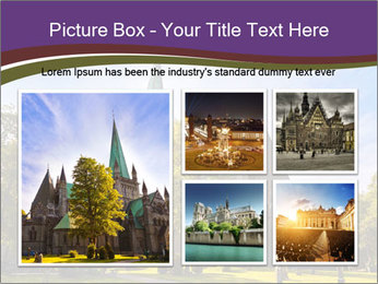 Cathedral in Trondheim Norway PowerPoint Template - Slide 19