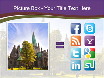 Cathedral in Trondheim Norway PowerPoint Template - Slide 21