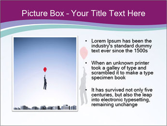 Man with a balloon PowerPoint Templates - Slide 13
