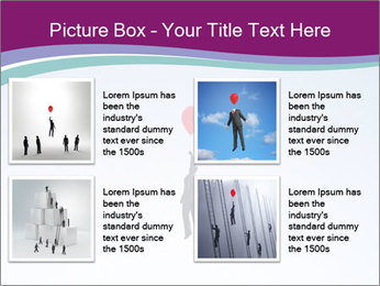 Man with a balloon PowerPoint Templates - Slide 14