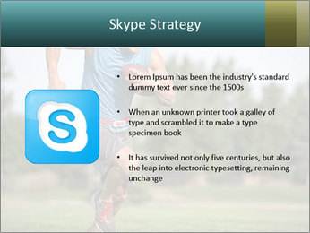 Guys playing flag PowerPoint Template - Slide 8