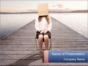 Woman sitting PowerPoint Templates - Slide 1