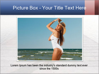 Woman sitting PowerPoint Templates - Slide 15