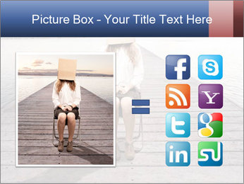 Woman sitting PowerPoint Templates - Slide 21