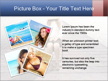 Woman sitting PowerPoint Templates - Slide 23