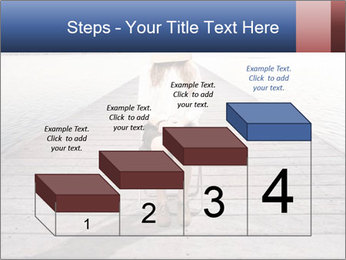 Woman sitting PowerPoint Templates - Slide 64