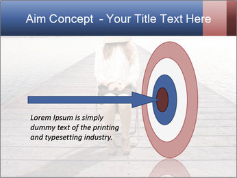 Woman sitting PowerPoint Templates - Slide 83
