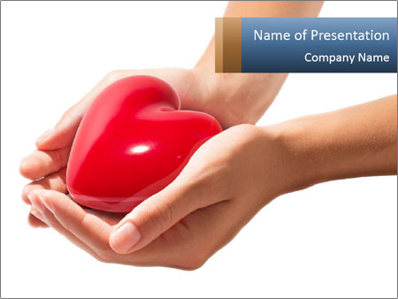 Heart in hands PowerPoint Templates