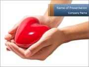 Heart in hands PowerPoint Templates