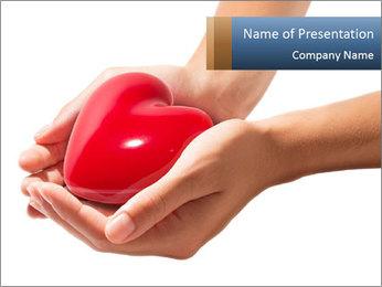Heart in hands PowerPoint Templates - Slide 1