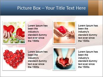 Heart in hands PowerPoint Templates - Slide 14