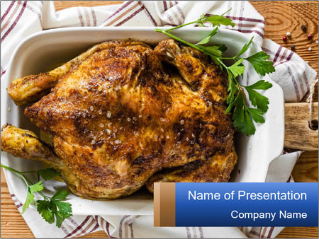 Roasted chicken PowerPoint Templates