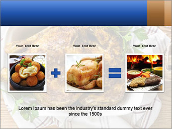 Roasted chicken PowerPoint Templates - Slide 22